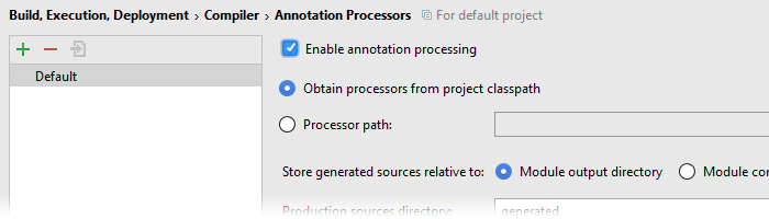 Annotation Processing in Android Studio aktivierenBild