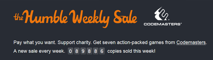 Humble Weekly Sale mit Codemasters Bild