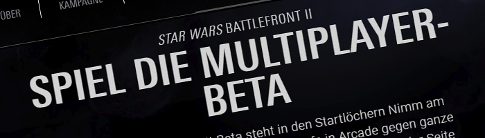Star Wars Battlefront II Beta Quick-Look Bild