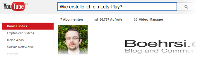 Youtube Lets Plays - Hardware, Settings und Upload Bild